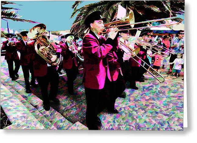 Marching Band Greeting Cards - Colour Me Band Greeting Card by Steve Taylor