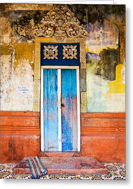 Entrance Door Greeting Cards - Colourful Door Greeting Card by Dave Bowman