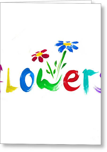 Childlike Greeting Cards - Colourful Flowers Greeting Card by Tim Gainey