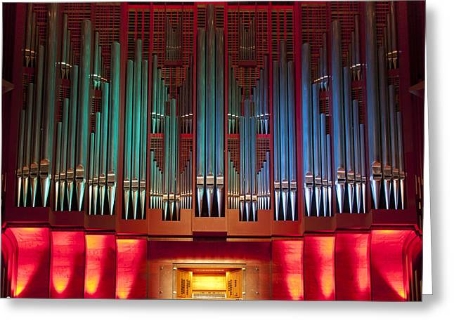 Pipe Organ Greeting Cards - Colourful organ Greeting Card by Jenny Setchell