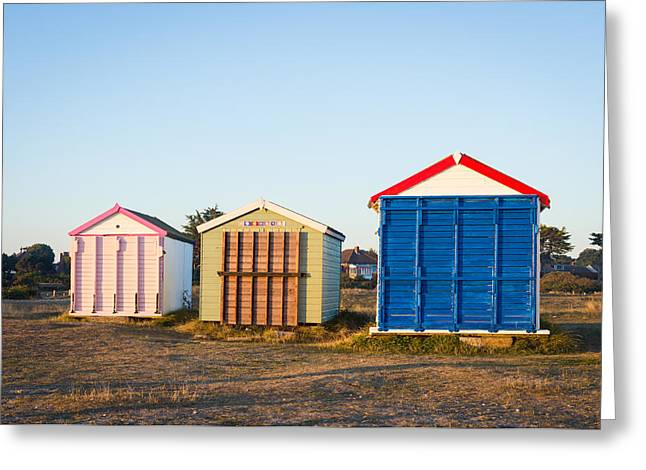Chalet Decor Greeting Cards - Colourful Greeting Card by Trevor Wintle