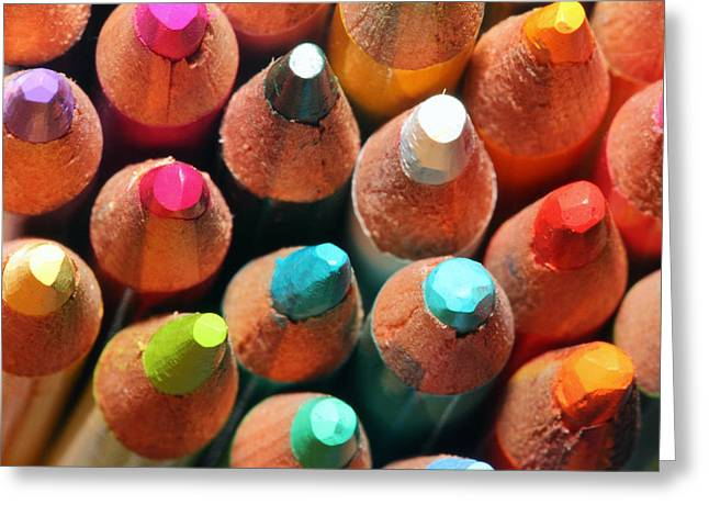 Colour Pencil Greeting Cards - Colours Greeting Card by Jason Shaffer