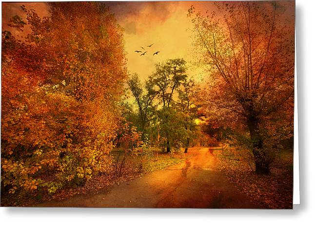 Trees In Autumn Greeting Cards - Colours of Atumn Greeting Card by Svetlana Sewell