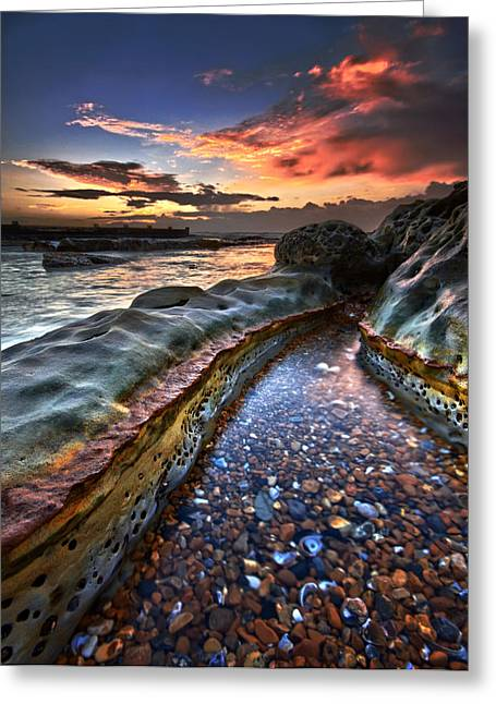 Beach Decor Posters Greeting Cards - Colours of dawn Greeting Card by Mark Leader
