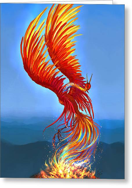 Katerina Romanova Greeting Cards - Colours of Fire Greeting Card by Katerina Romanova