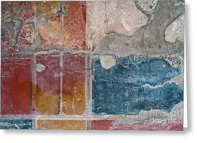 Archeology Greeting Cards - Colours of Herculaneum Greeting Card by Marion Galt