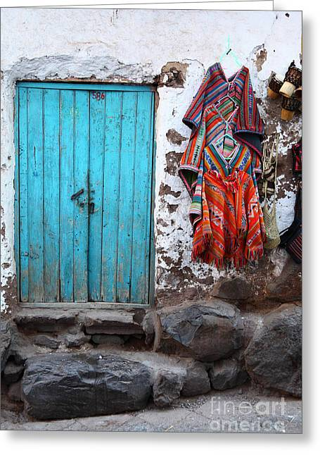 Colours Of Peru Greeting Card by James Brunker