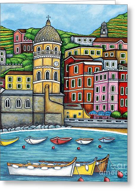 Lisa Lorenz Greeting Cards - Colours of Vernazza Greeting Card by Lisa  Lorenz
