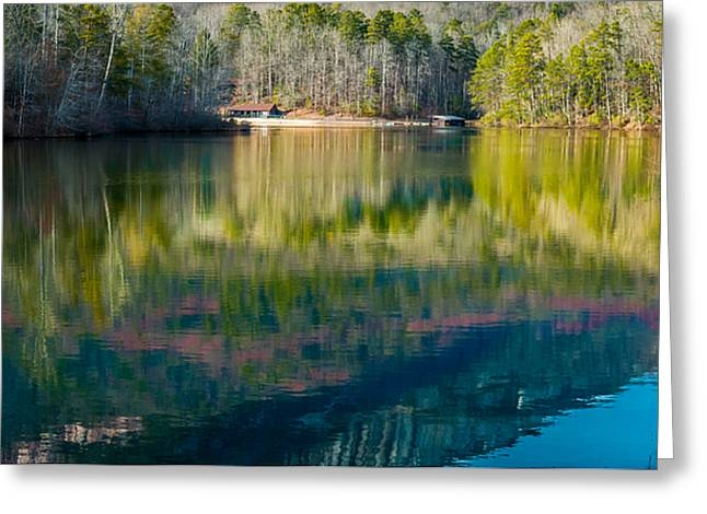Colrful Greeting Cards - Colrful Reflections on Pinnacle Lake Greeting Card by Optical Playground By MP Ray