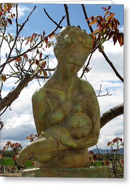 Fine Sculptures Greeting Cards - Colrine 2 Greeting Card by Flow Fitzgerald