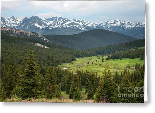 Boreas Greeting Cards - Colroado Rockies Greeting Card by Sharon Day