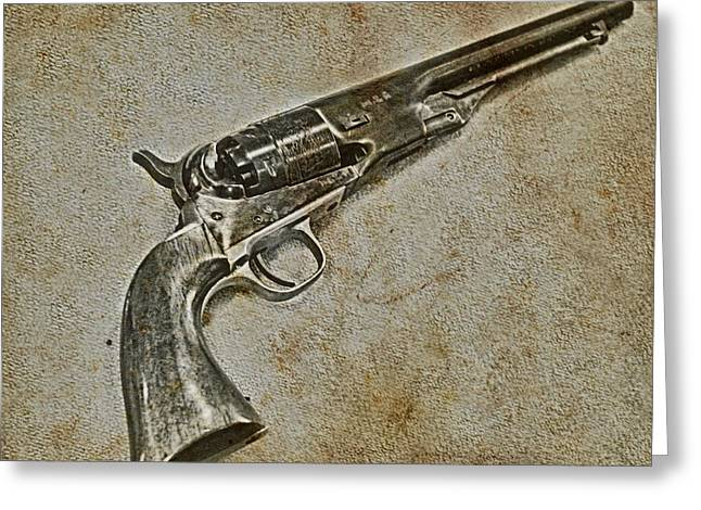 Powder Mixed Media Greeting Cards - Colt Army model 1860 Greeting Card by Todd and candice Dailey