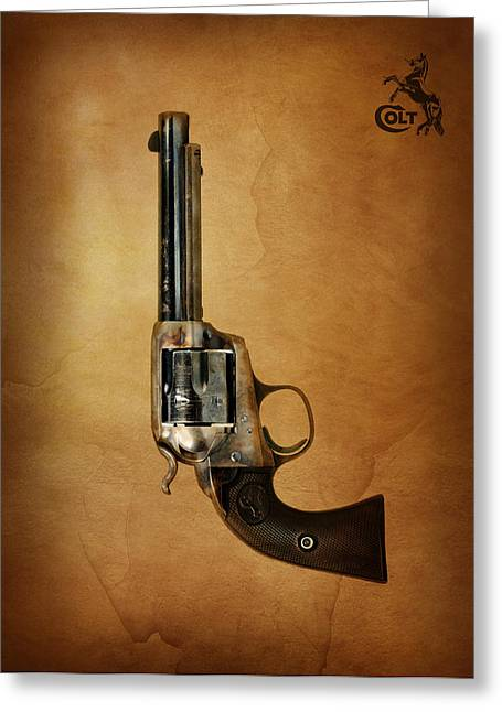 Wild West Photographs Greeting Cards - Colt Bisley Greeting Card by Mark Rogan