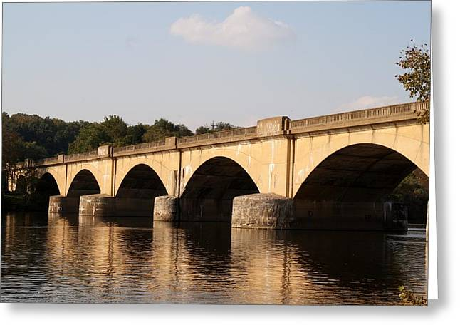 Phillies Greeting Cards Greeting Cards - Columbia Bridge Greeting Card by Christopher Woods