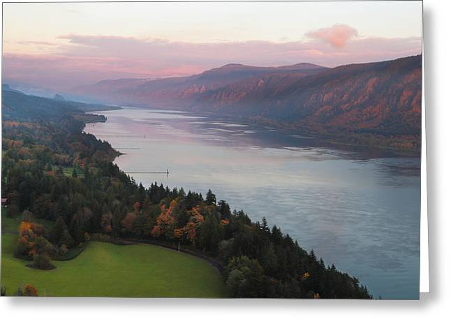 River View Greeting Cards - Columbia River Gorge Greeting Card by Angie Vogel