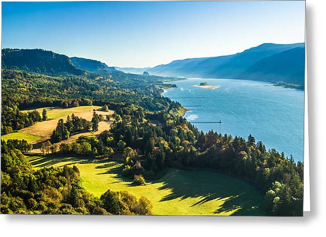 Columbia River Gorge - River Overlook Photograph Greeting Card by Duane Miller