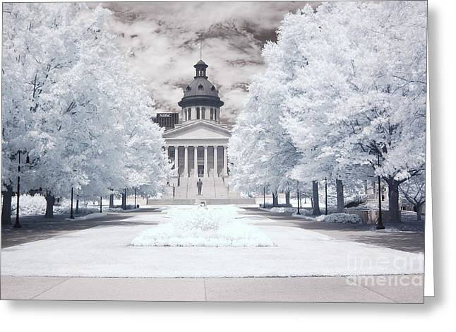 Surreal Infrared Dreamy Landscape Greeting Cards - Columbia South Carolina Infrared Landscape  Greeting Card by Kathy Fornal