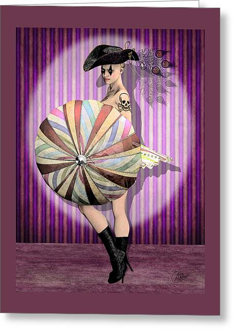 Vaudeville Greeting Cards - Columbine pirate Greeting Card by Quim Abella
