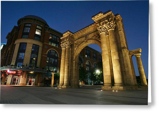 David Yunker Greeting Cards - Columbus Arena District Greeting Card by David Yunker