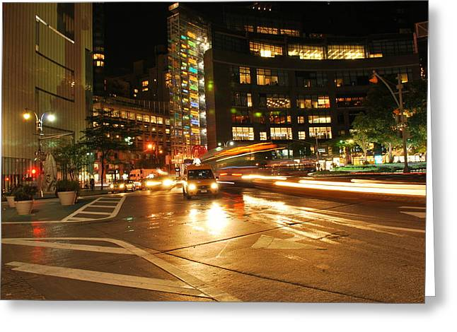 Warner Park Greeting Cards - Columbus Circle Greeting Card by Kurt Von Dietsch