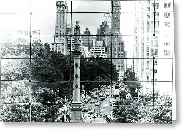 Warner Park Greeting Cards - Columbus Circle Greeting Card by Ovidiu Rimboaca