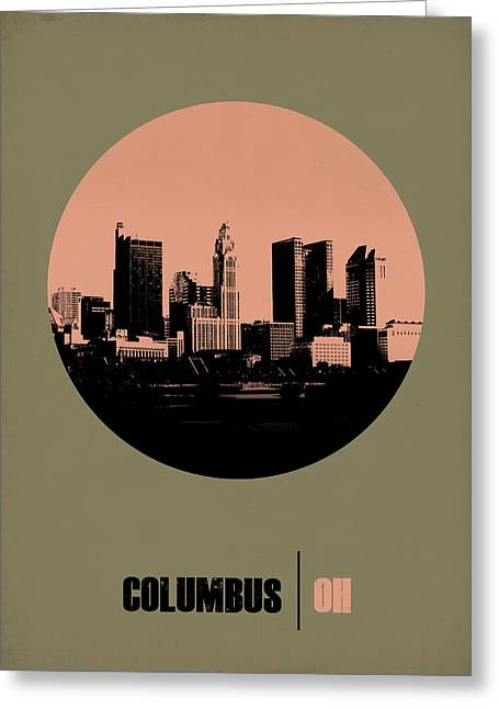 Columbus Greeting Cards - Columbus Circle Poster 1 Greeting Card by Naxart Studio