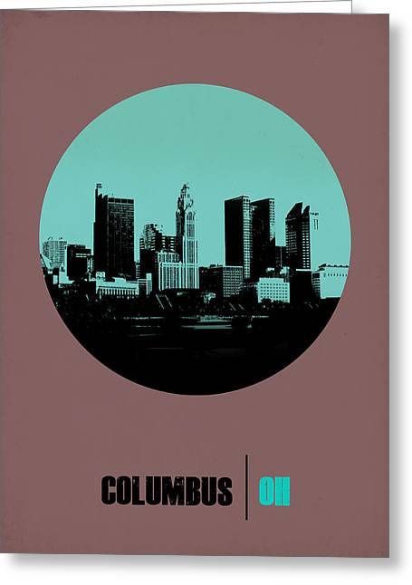 Columbus Greeting Cards - Columbus Circle Poster 2 Greeting Card by Naxart Studio