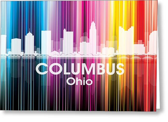 Concrete Jungle Mixed Media Greeting Cards - Columbus OH 2 Greeting Card by Angelina Vick