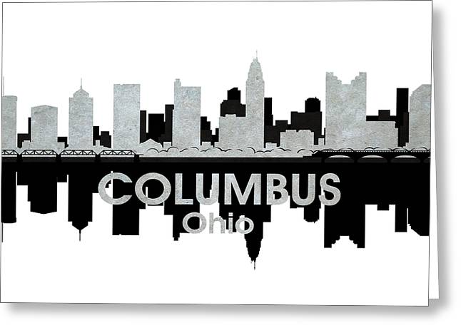 Concrete Jungle Mixed Media Greeting Cards - Columbus OH 4 Greeting Card by Angelina Vick