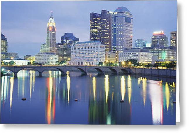 Ohs Greeting Cards - Columbus Oh Greeting Card by Panoramic Images