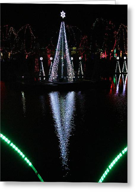 Christmas Eve Greeting Cards - Columbus Zoo Christmas Greeting Card by Dan Sproul