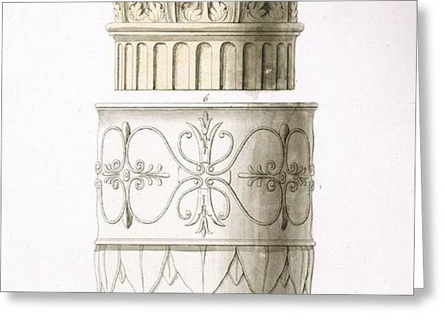 Column And Capital Greeting Card by .