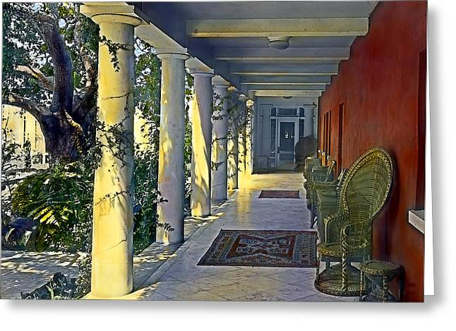 Realistic Greeting Cards - Columns and Chairs Greeting Card by Terry Reynoldson
