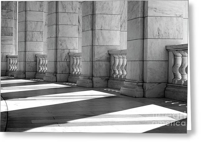Arlington Greeting Cards - Columns and Shadows Greeting Card by Paul W Faust -  Impressions of Light