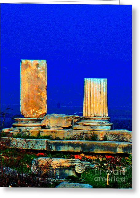 Recently Sold -  - Stepping Stones Greeting Cards - Columns in the Sun Greeting Card by Steve C Heckman
