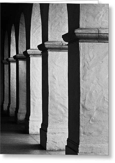 Light And Shadow Greeting Cards - Columns Greeting Card by Joseph Smith