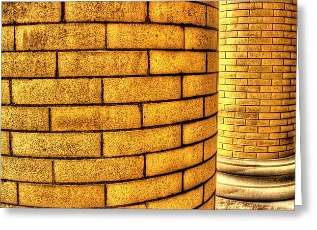Vintage Brick Greeting Cards - Columns Greeting Card by Michael Eingle