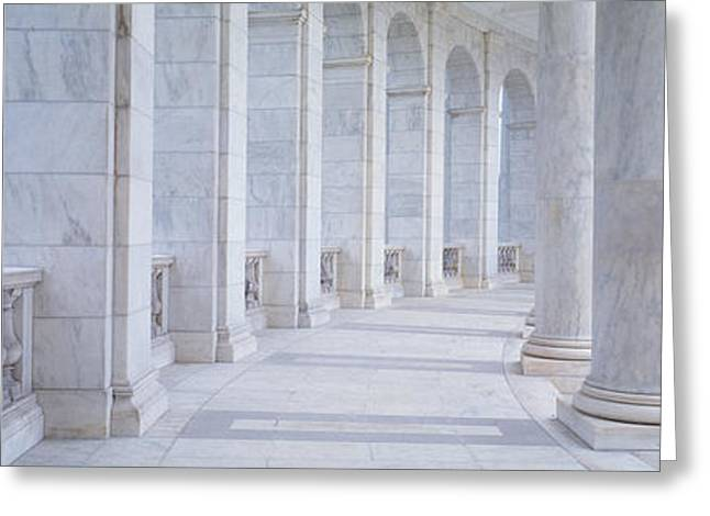 Arlington Greeting Cards - Columns Of A Government Building Greeting Card by Panoramic Images