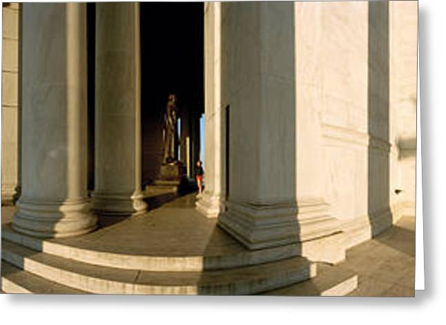 Jefferson Memorial Greeting Cards - Columns Of A Memorial, Jefferson Greeting Card by Panoramic Images