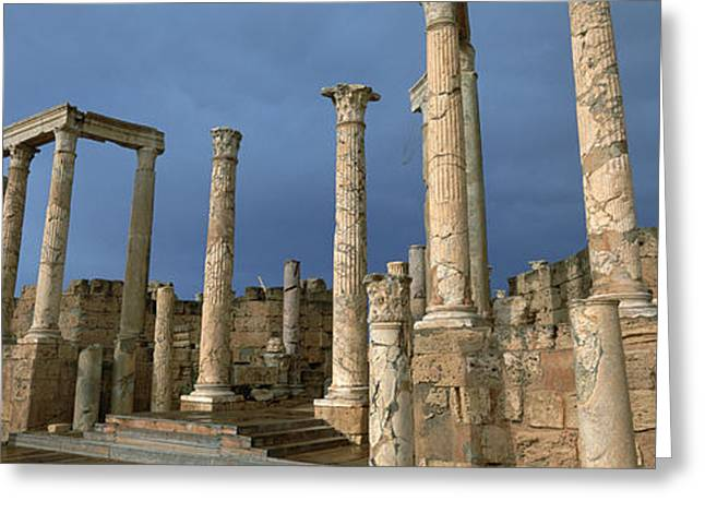 Run Down Greeting Cards - Columns Of Buildings In An Old Ruined Greeting Card by Panoramic Images