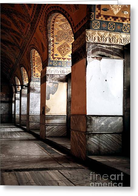 Holy Wisdom Greeting Cards - Columns of History Greeting Card by John Rizzuto