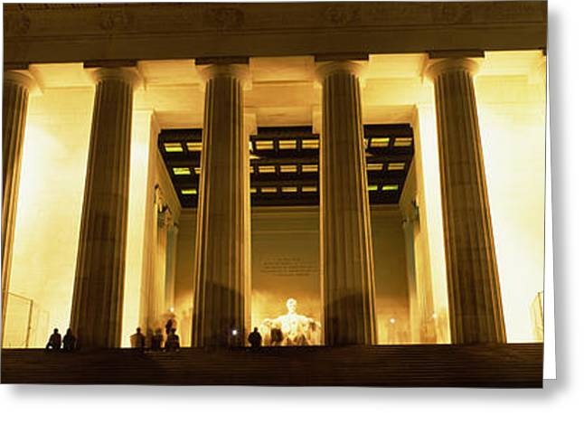 Abraham Lincoln Images Greeting Cards - Columns Surrounding A Memorial, Lincoln Greeting Card by Panoramic Images