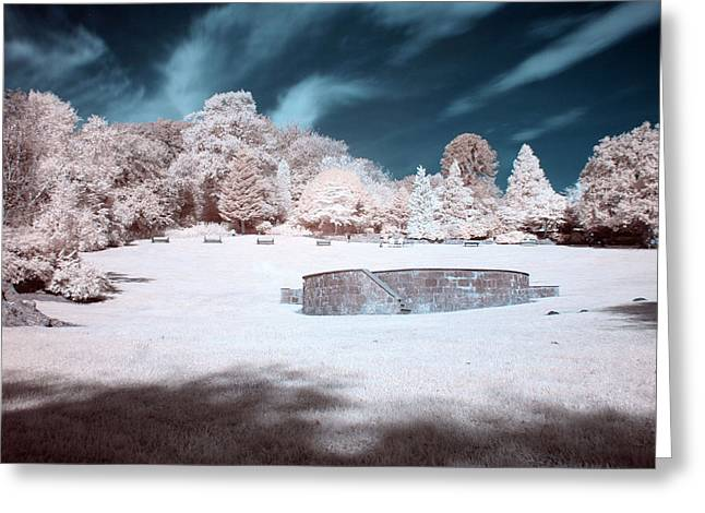 Daily Mail Greeting Cards - Colzium Band Stand Greeting Card by Catherine Perkinton