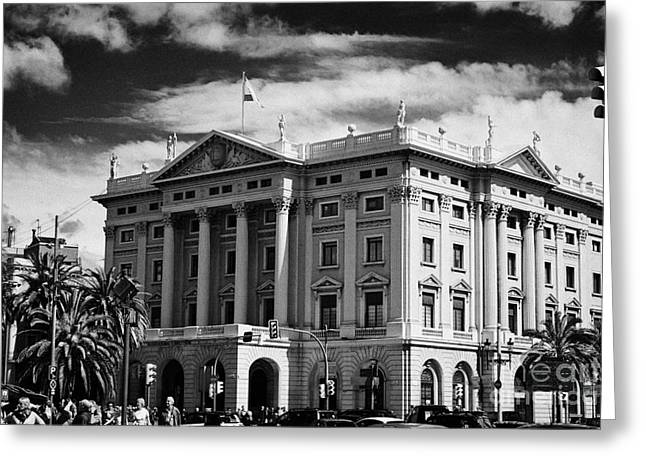 Third Army Greeting Cards - Comandancia De Barcelona Army Headquarters Building In Barcelona Catalonia Spain Greeting Card by Joe Fox