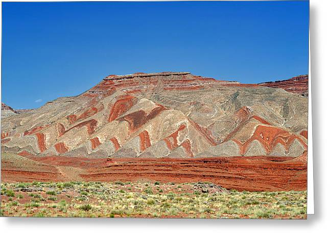 Recently Sold -  - Geology Photographs Greeting Cards - Comb Ridge Utah near Mexican Hat Greeting Card by Christine Till