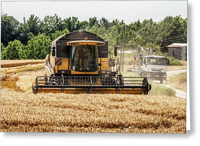 Reaping Greeting Cards - Combine Harvester Greeting Card by Nomad Art And  Design