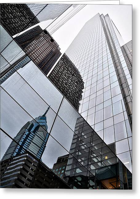 Liberty Place Greeting Cards - Comcast Center with Liberty Place Reflection Greeting Card by Bill Cannon