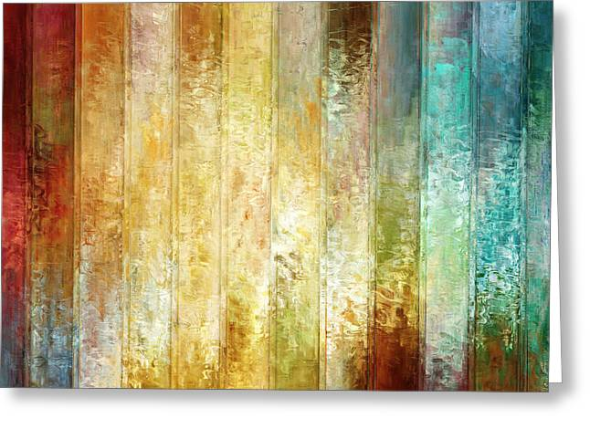 Abstract Art On Canvas Greeting Cards - Come A Little Closer - Abstract Art Greeting Card by Jaison Cianelli