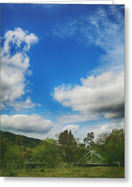 Puffy Clouds Greeting Cards - Come Away With Me Greeting Card by Laurie Search
