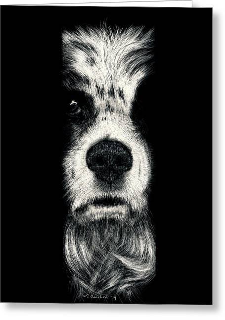 Puppies Drawings Greeting Cards - Come Back Greeting Card by Lonetta Avelar